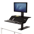Fellowes SitStand Workstation Lotus VE Single Monitor Mount Black Each