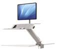 Fellowes SitStand Workstation Lotus RT Single Arm White