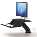 Fellowes SitStand Workstation Lotus RT Single Arm Black  BONUS Buy any Lotus RT and receive the following bonus itemsPLUSHTOUCH BACK SUPPORT PLUSHTOUCH KEYBOARD WRIST SUPPORT BLACK PLUSH