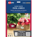 Avery L7102 Oval 635 X 423Mm 18Sheet Gloss White 980000