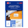 Avery L7065 Internet Shipping Weatherproof 991 x 677mm 8sheet White Pkt10