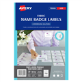 Avery Fabric Name Badges L7427 880 X 520Mm 10 Sheet White 980040
