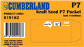 140140 619162 Moist  Seal No 7 Seed 145 X 90Mm Kraft Bx500 196963