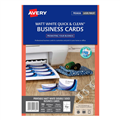 Avery Business Cards C3201525 250Gsm Inkjet Double Sided White 936220