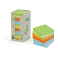 PostIt Notes 654RTP 73Mm X 73Mm Recycled Green Helsinki Assorted PKT16