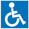 Apli Sign 900424 Self Adhesive Disabled BlueWhite Each