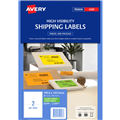 Avery L7162FG Laser Labels Fluorescent Green 16 Per Sheetpack 25