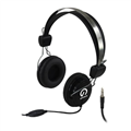 Headphones Shintaro SH105MC Stereo headset with inline Microphone Single Combo 35mm Jack Black
