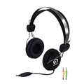 Headphones Shintaro SH105M Stereo headset with inline Microphone Double 35mm Jack Black