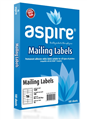 Aspire Labels LaserInkjet Aspire  Address 991 X 340Mm 16Sheet PKT100