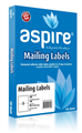 Aspire Labels LaserInkjet Aspire Parcel 1996 x 1435mm 2sheet Pkt100