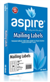 Aspire Labels LaserInkjet Aspire  Address 640 X 338Mm 24Sheet PKT 100