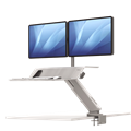 Fellowes SitStand Workstation Lotus RT Dual Arm White