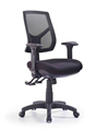 Express HinoCMb High Mesh Back Clerical Chair With Height Adj Back  Arms  3 Lever With Heavy Duty Mechanism Black